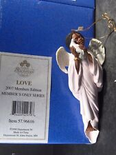 2007 Blackshear Dept 56 Love Ornament Angel & Dove Members Only New Old Stock