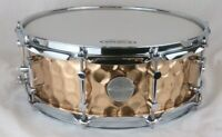 Click Drums 5x14 Hammered Bronze Snare Drum