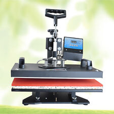 Swing Away 8 in 1 Heat Press Machine Transfer Sublimation T-Shirt Mug Plate Cap
