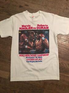 Vtg Original 1980s 80s Hagler Duran T Shirt Mens M Middleweight Boxing Las Vegas