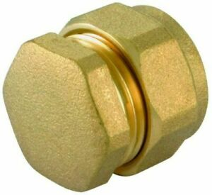 Compression Stop End Brass Copper  Pipe Fitting Gas LPG Oil 8mm 10mm 15mm 22mm