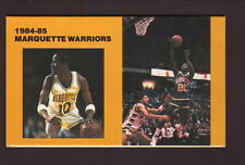 Marquette Warriors--1984-85 Basketball Pocket Schedule--WISN/Pabst