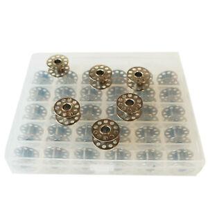 36 universale Spulen in Box Fadenspulen aus Metall für Nähmaschinen und Overlock