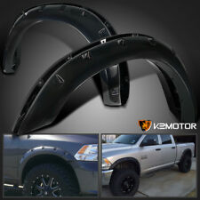 2010-2017 Dodge Ram 2500/3500 Black Pocket Style Rivet Bolt On Fender Flares