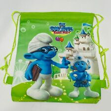 The Smurfs Dance Party Sling Tote Drawstring Backpack Sports Treat Bag Boys