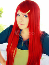 Naruto Uzumaki Kushina Cosplay Wig Red Long Cosplay Party Wig Hair
