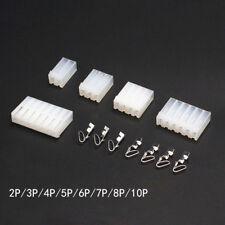 2-10 Pin Conector PCB 3.96mm forma de nylon vivienda + Crimp Terminales