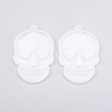 Heart Eyes Skull Mold, Silicone Molds for Epoxy Crafts, Resin Craft Molds, Epoxy