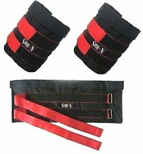 Ankle Weights Pouch 10kg Sand Bag Capacity Adjustable Sold WITHOUT Weights
