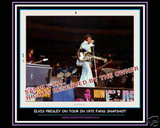 ELVIS PRESLEY PHOTO 1972 blue outfit 2 limited 8 x 10 amazing/ numbered One set