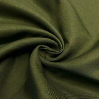 "10 YDS TWILL FABRIC COTTON DK OLIVE GREEN 7.5 ozs, 62"" MADE IN USA 64"" WIDE NEW"