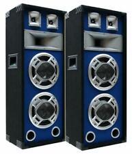 2 St. E-Lektron SPL220 DJ PA 3-Wege Blue-LED Lautsprecher Disco Party Bass BOXEN