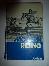 MODERN RIDING by S. R. Kulesza HC 1975 HORSES Training Program Gaits Lunging B4