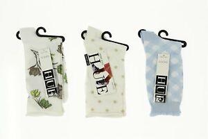 Lot of 3 HUE socks floral / chinos dot / blue 140583