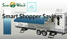 16' RV Camping Trailer Camper Awning Replacement Fabric Canopy Sun Shade Shelter