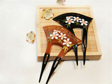 Acrylic Sakura Hollow out Hairpin Comb Kanzashi Japanese for Kimono Geisha Gift