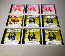 CD+Graphics MTV KARAOKE 9 CD Lot