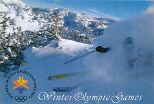 2002 Winter Olympic Games Salt Lake City, original postcard.