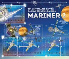 NASA 1962 MARINER 2 Venus Space Probe Stamp Sheet #1 (2012 Mozambique)