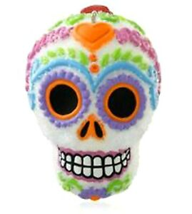 2014 Hallmark SWEET SKULL Day of the Dead Halloween Keepsake sugar ornament NEW!