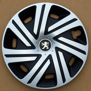 """Silver/Black 16"""" wheel trims hubcaps to fit Peugeot Expert( from 2017-)"""
