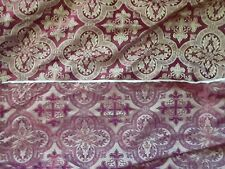 Eight yards ecclesiastical brocade - burgundy and gold - SCA garb/Religious item