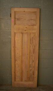 """Reclaimed 1930's Pine Door Wooden 23 3/4"""" x 71 1/2"""" Internal  904"""