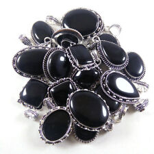 925 Silver Plated Wholesale Lot 5 Pcs Black Onyx Silver Plated Jewelry