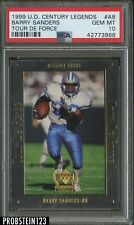 1999 Upper Deck Century Legends Tour De Force #A8 Barry Sanders PSA 10 POP 1