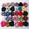 Women Silky Satin Solid Hair Scrunchies Elastic Hair Ring Ponytail Hair Tie Rope