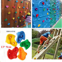10pcs Assorted Rock Stones Wall Hand Kids Climbing Holds Hardware Starter +Bolt
