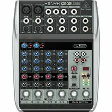 Behringer XENYX Q802usb 8 Input 2 Bus Mixer With USB