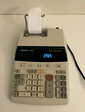 Sharp El-2192Rii Electronic Desktop Printing Calculator 12 Digit 2 color tested