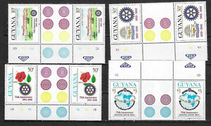 GUYANA SC# 318-21 MNH STAMPS GUTTER PAIRS