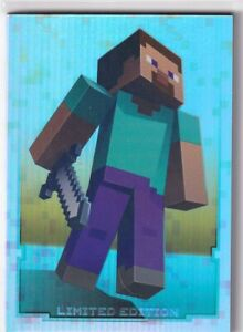 Panini Minecraft Adventure Trading Cards Card Limited Edition Steve
