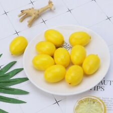 20 pcs Mini Artificial Fake Fruit Yellow Lemons Simulation Fruit Decoration New