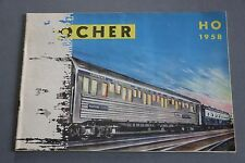 X410 POCHER Train catalogueHo 1958 20 pages 14,7*21 cm F voiture wagon maquette