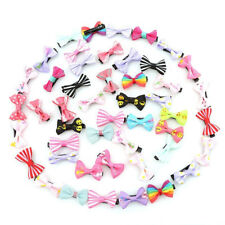 20 Pcs/lot Girls Candy Color Kids Bow Alligator Clip Children Hair Accessories