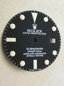~ Vintage Rolex #16800 Submariner Matte Black Repaired Dial ~