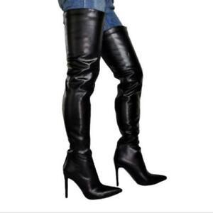 Ladies Sexy Party Over Knee Thigh High Heel Stiletto Boots Nightclub 45 46 47 L