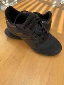 Black Adidas Astro Turf Trainers Size 3 UK