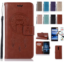 Luxury Retro Leather Stand Flip Wallet Cover Card Slots Case For Nokia 3 5 6 8 9