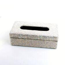 Bling Rhinestone Shiny Tissue Box Case Napkin Holder Block For Car Home