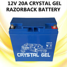 BRAND NEW 12V 20A PREMIUM CRYSTAL GEL RAZORBACK BATTERY