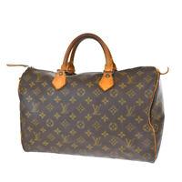 Auth LOUIS VUITTON Speedy 35 Travel Hand Bag Monogram Leather BN M41524 65JC308