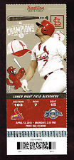 2015 ST LOUIS CARDINALS VS MILWAUKEE BREWERS  OPENING DAY TICKET  STUB