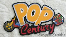 DISNEY POP CENTURY RESORT Die Cut Title - Scrapbook Page Paper Piece - SSFFDeb