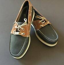 Dockers Leather Slip On Vargas Loafer Boat Shoes Blue Men's Size 8 NEW