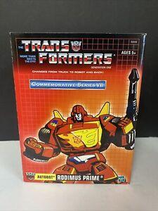 RODIMUS PRIME - G1 Transformer Autobot - Commemorative Series VII 2003 Complete