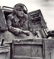 WW2 Photo WWII Portrait of German StuG III Commander  World War Two  / 2496